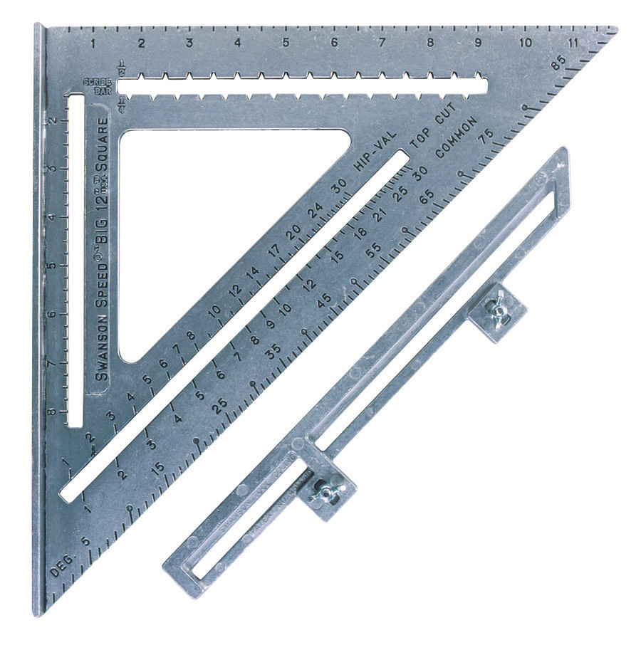 The big speed square with layout bar swanson tool