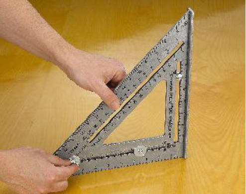"""Nut And Washer >> Laying-out stairswith the """"BIG 12®"""" Square & Layout Bar™ - Swanson Tool Company"""