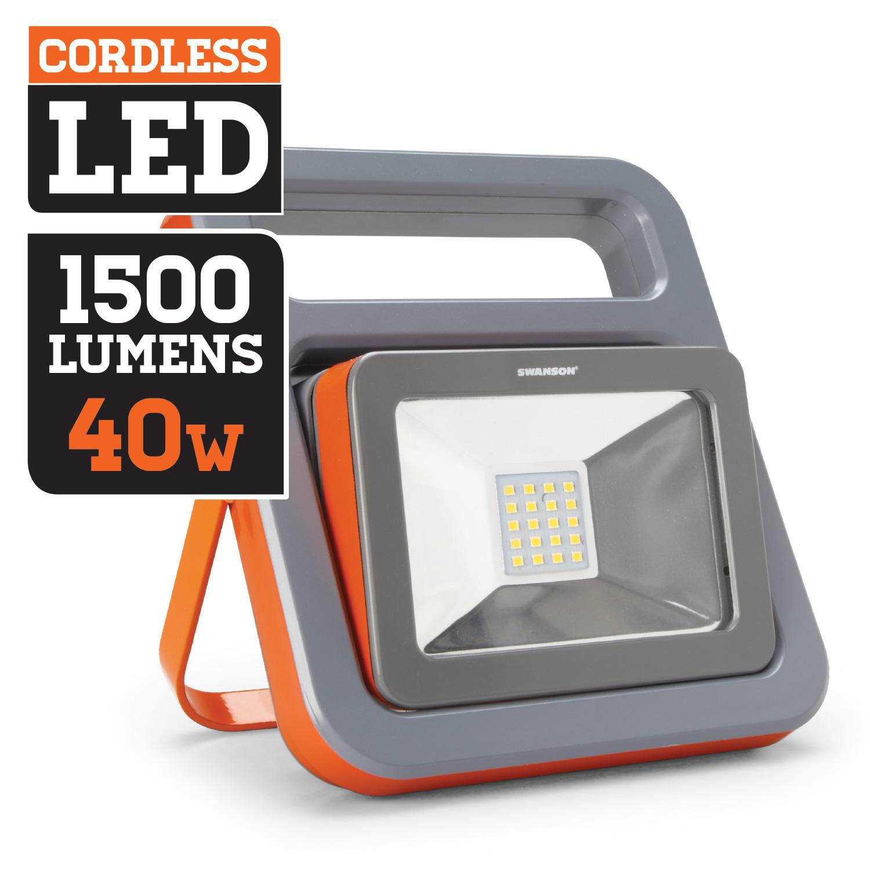 Swanson Cordless 1500 Lumens 40w Led Hand Held Worklight