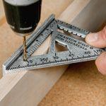Swanson Speed Trim Square 3/8 inch drill hole
