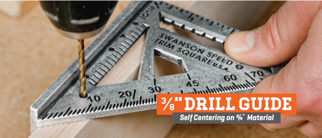 Swanson Speed Trim Square-3/8 in. Drill Guide
