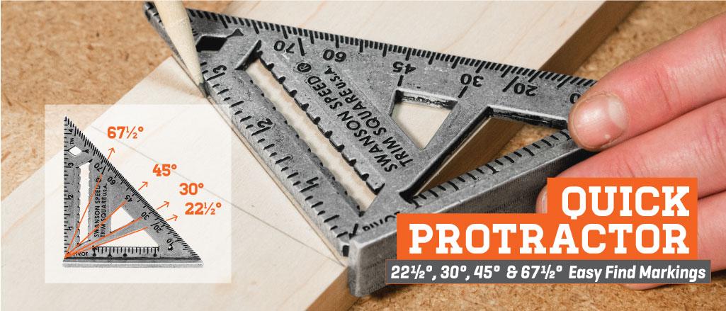 Swanson Speed Trim Square-Quick Protractor